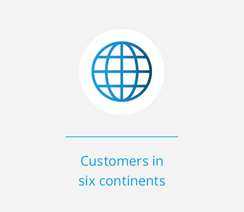 Customers in six continents